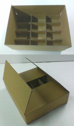 仕切りが付いた箱