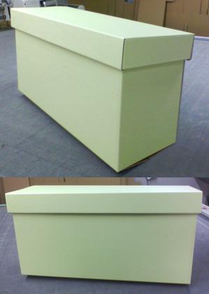カラーダンボールで大きな箱