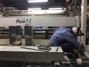 ダンボール印刷機械のメンテナンス