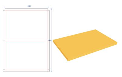 型紙発送用・巻き込み式段ボール