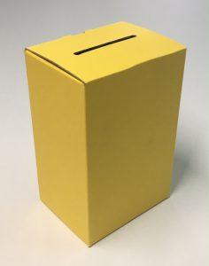 黄色の募金箱